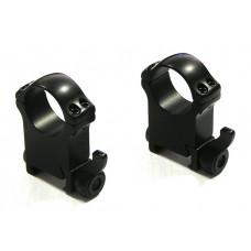 Быстросъемные кольца на weaver BH 12,0mm на кольца D34mm средние (на рычаге)